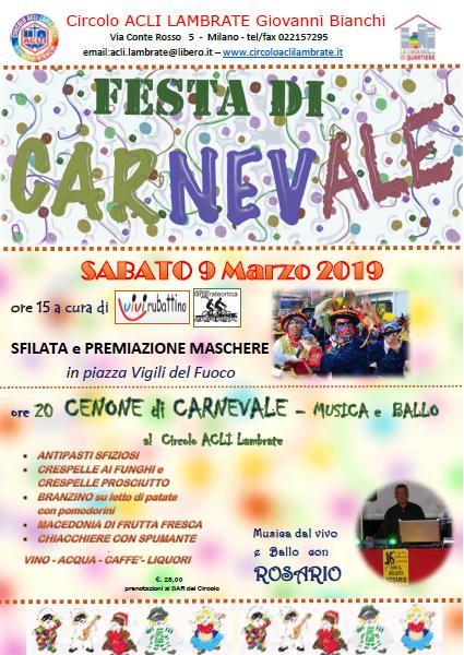 Lambrate e Rubattino – Carnevale 2019